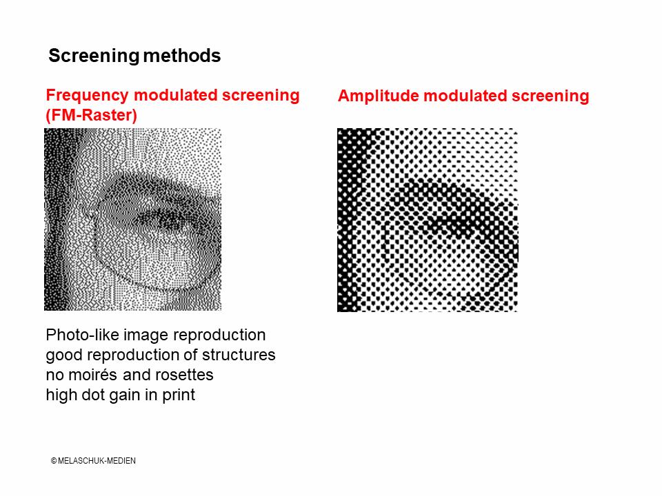 FM screening - Technical term - Melaschuk-Medien