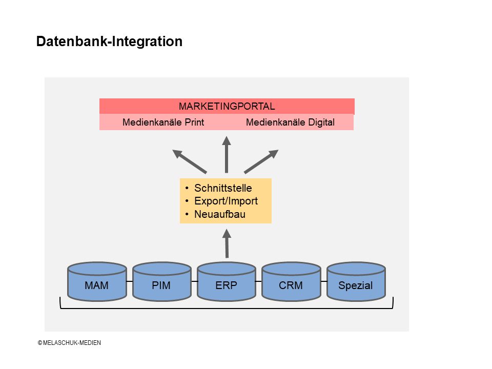 Methoden der Datenbank-Integration in Web-to-Print-, Web-to-Publish-Systeme oder Marketingportale